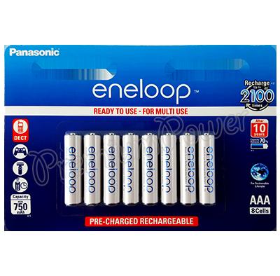 8 X Panasonic Eneloop Aaa Batteries 750 Mah Rechargeable