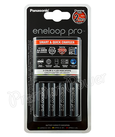 Panasonic Eneloop Pro Smart Amp Quick Charger 4 Aa 2500